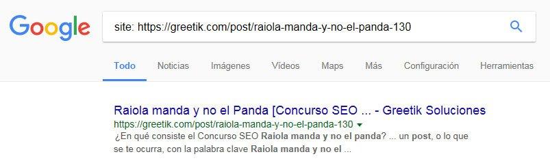 indexar una url en google