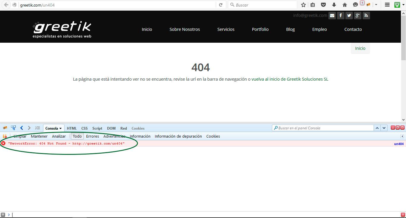 Devuelve un error 404 cuando se llegue a una página no encontrada en tu web