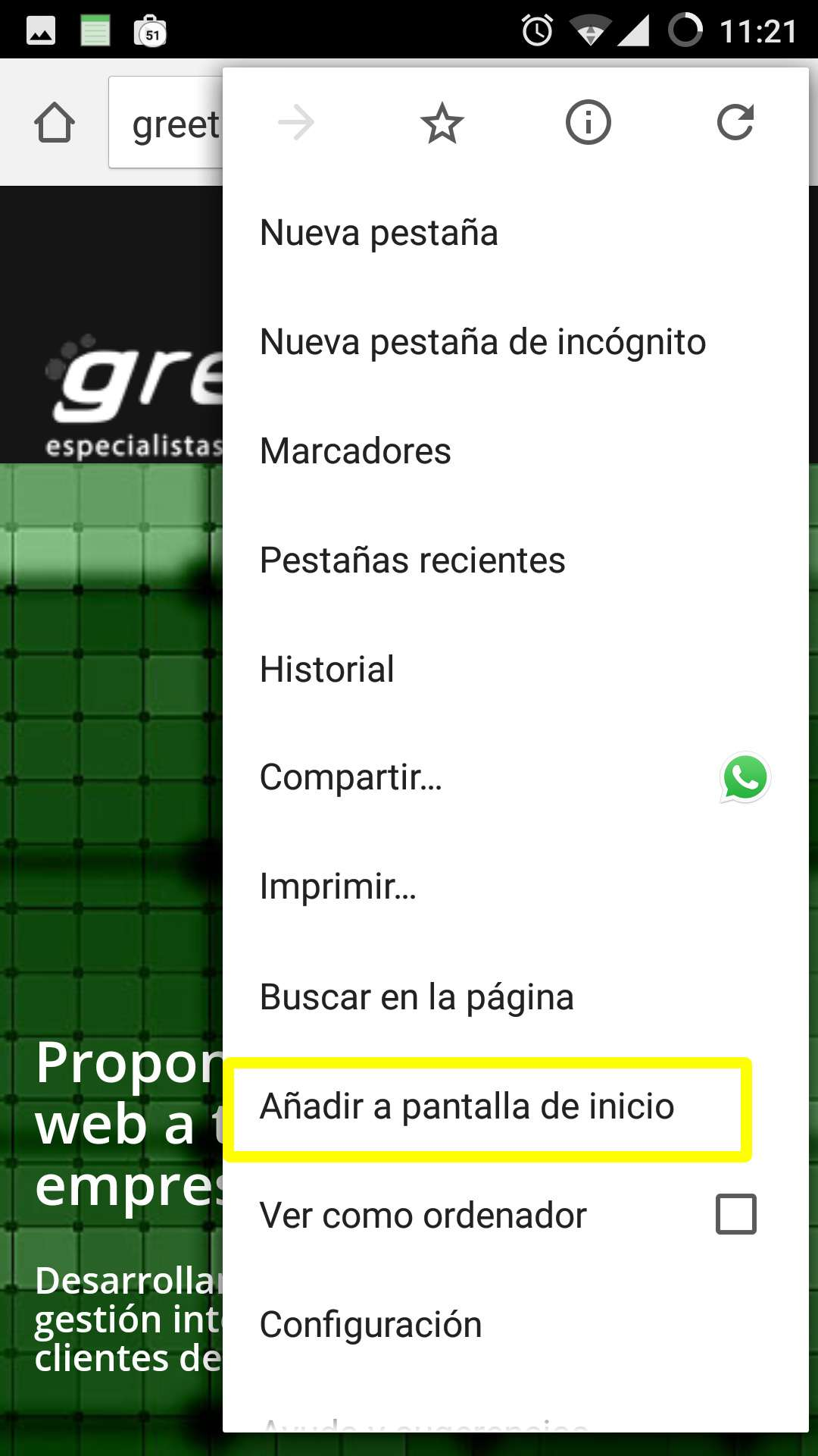 Acceso directo Android 02