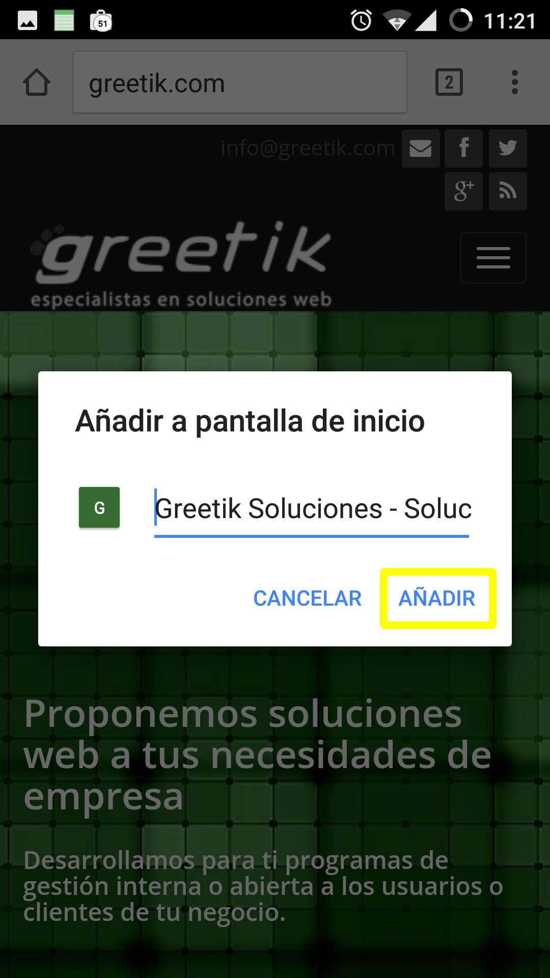 Acceso directo Android 03