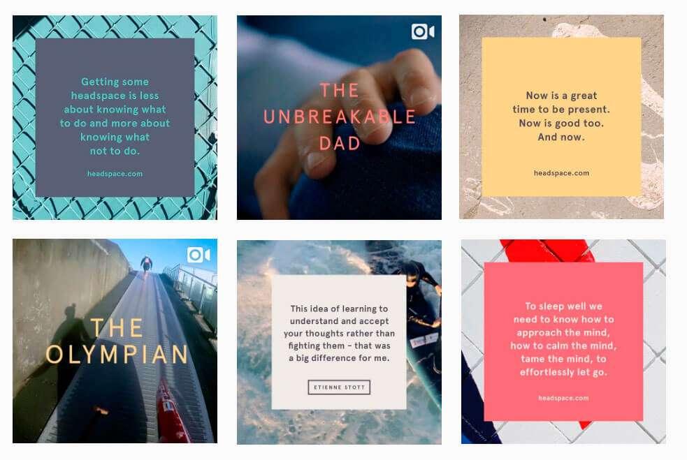 Instagram de Headspace