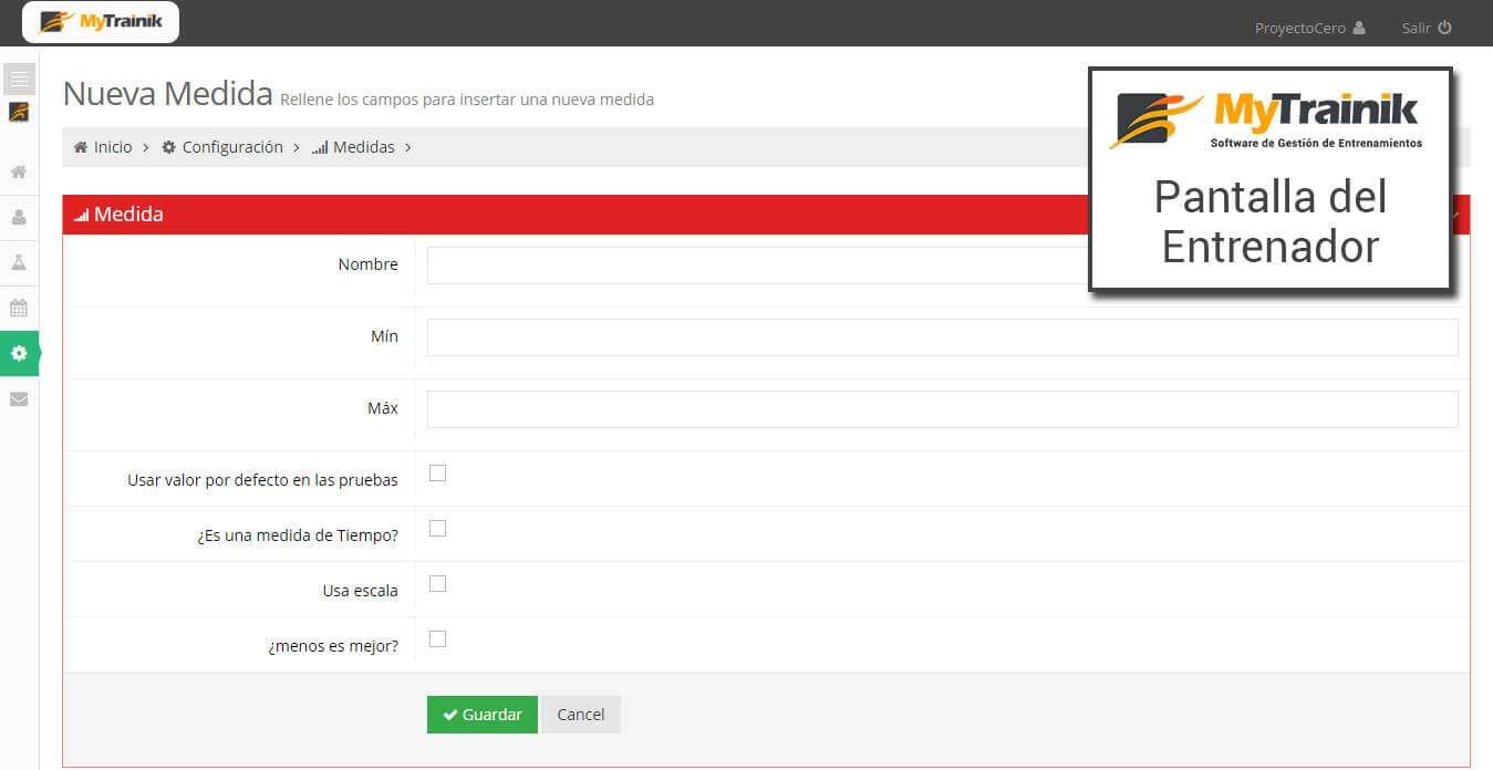 Añadir pruebas de MyTrainik - software pare entrenadores personales